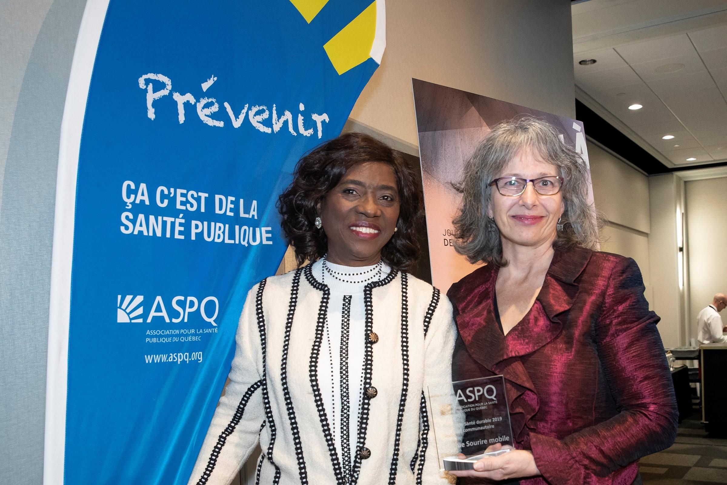 Sourire mobile - Prix Distinction Santé durable – volet communautaire-2019