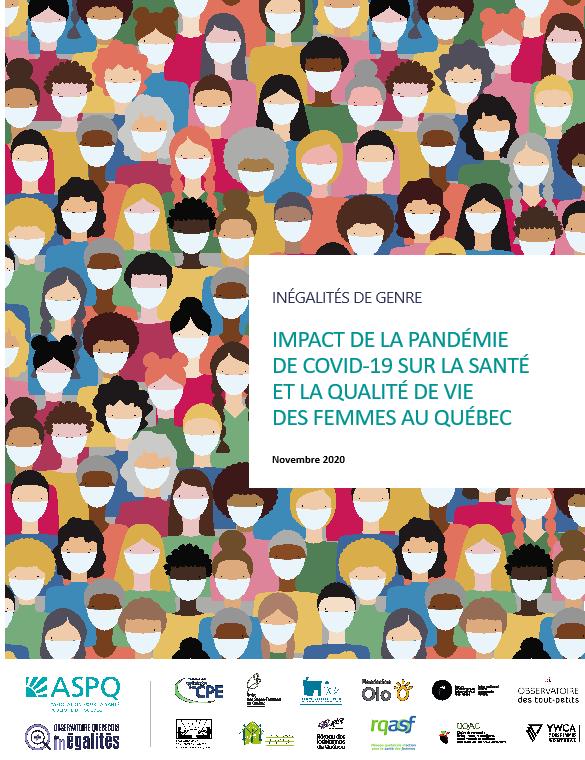 Rapport-Inégalités de genre  Impact de la pandémie de COVID-19 sur la santé et la qualité de vie des femmes au Québec