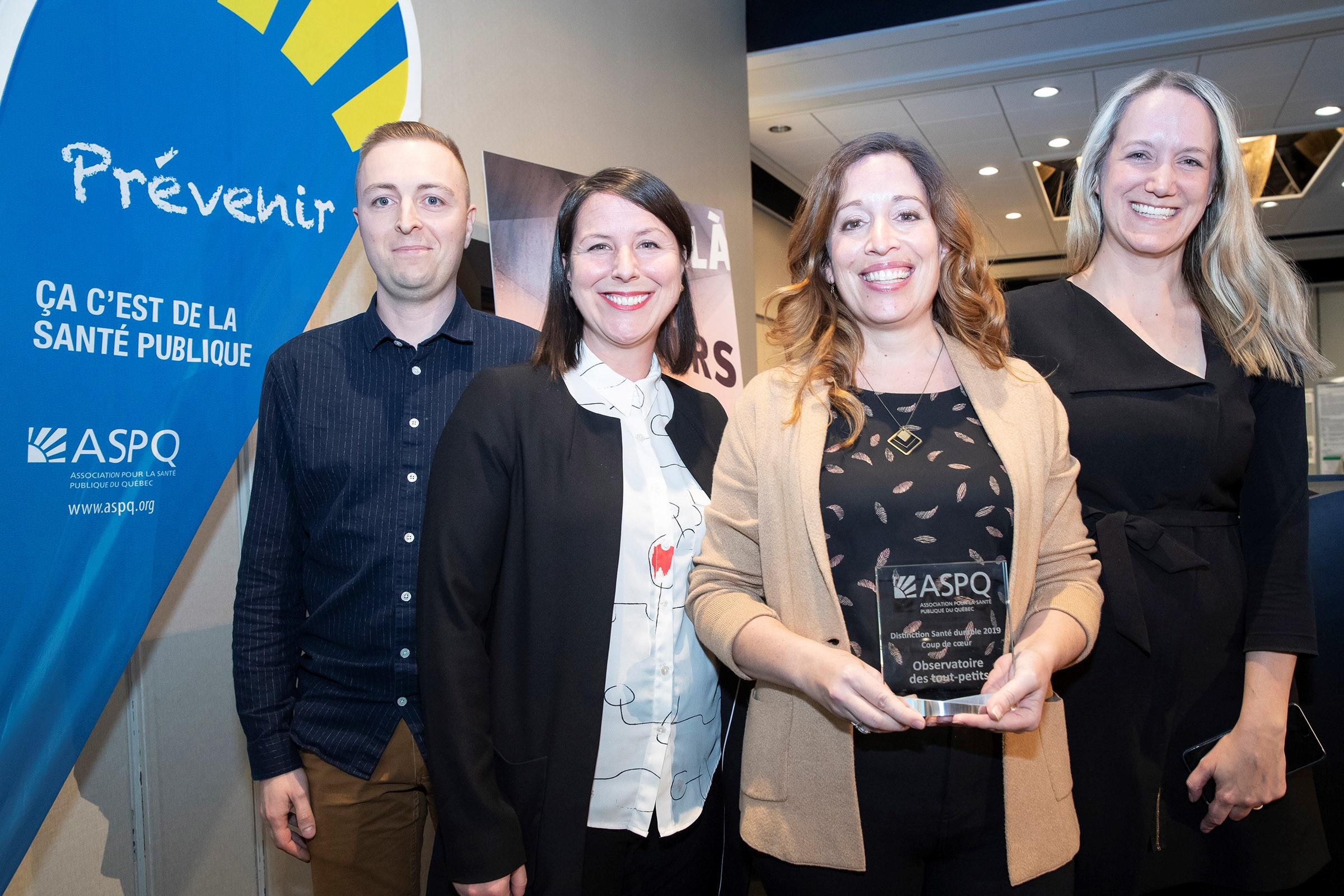 L'Observatoire des tout-petits - Prix Distinction Santé durable Coup de cœur 2019