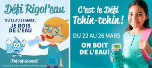 Du 22 au 26 mars, participez en grand nombre au Défi Rigol'eau et au Défi Tchin-tchin!